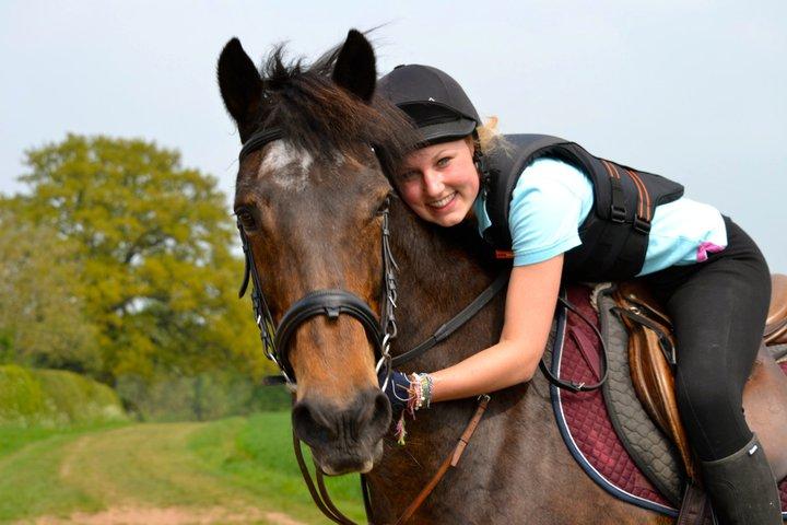 Girl Hugging Horse Girl Hugging Her Horse